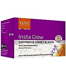 VLCC Insta Glow Saffron & Honey Bleach Cream , 60gm