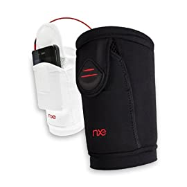 NXE ActiveSLEEVE Medium Armband for iPhone, iPod, and all Smartphone/cell phone/MP3 players, 2 Pack (Black/White)