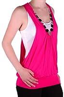 EyeCatch - Valonia Womens Sleeveless Plain Ladies Twinset Fashion Top