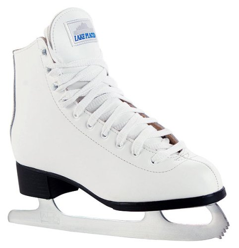 Lake Placid Deluxe Leather Figure Ice Skates - White - UK3