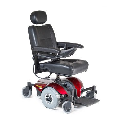 "Pronto M41 Power Wheelchair Seat Size: 16"" W X 16"" D, Color: Red"