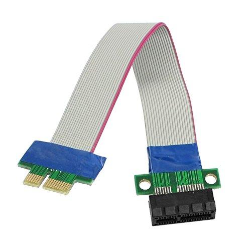TOOGOO(R) PCI-Express PCI-E 1X carte de montage Flex extendeur Extension Cable pour PC