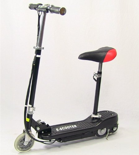 Black - Kids Electric Scooter, Ride on Electric Scooter, E-Scooter with Rechargeable Battery and Detachable Seat.