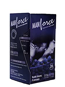 buy manforce black grapes dotted 20 pcs online at low
