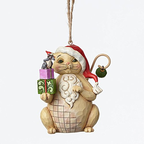 Enesco Jim Shore Christmas Cat Ornament