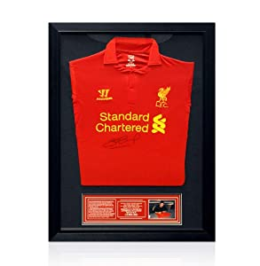 Framed Steven Gerrard Signed Liverpool Shirt 2012/2013 - Small from A1 Sporting Memorabilia