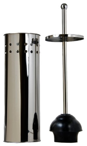 taymor stainless steel tall toilet bowl plunger with lid new free shipping ebay. Black Bedroom Furniture Sets. Home Design Ideas