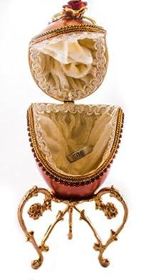 buy Ats Red Rose Egg Shell Ring Box