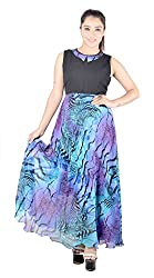 Fabrizia Women's Georgette Dress (FWLD-10_Multi-Coloured_Large)
