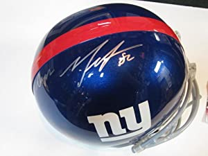 Mario Manningham New York Giants Signed Autographed Full Size Helmet Authentic...