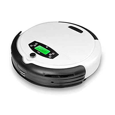Robot Vacuum Carpet and Floor Cleaner - Pet Hair and Allergy Friendly! Weekly Cleaning Scheduling and Automatic Docking - PureClean PUCRC45