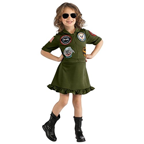 [GSG Top Gun Flight Dress Kids Navy Military Pilot Aviator Halloween Costume] (Zombie School Girl Adult Womens Costumes)
