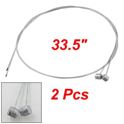 Como Front Rear Brake Cable Wire Silver Tone for Bicycle