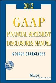 2012 bpc financial template - gaap financial statement disclosures manual cd rom 2011