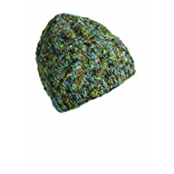 FU-R Headwear - Toss With Pasta, Hand Knit, Wool Blend, Fully Fleece Lined, Beanie Hat, Pesto