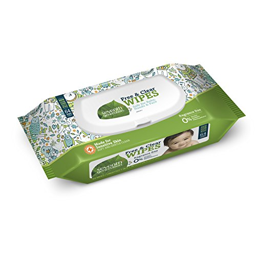 Seventh Generation Free & Clear Wipes (Thick & Soft) with Widget, 64ct - 1