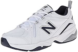 New Balance Men's MX608V4 Training Shoe,White/Navy,11 4E US