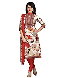 Shonaya Multicolour Poly Cotton Printed Unstitched Dress Material