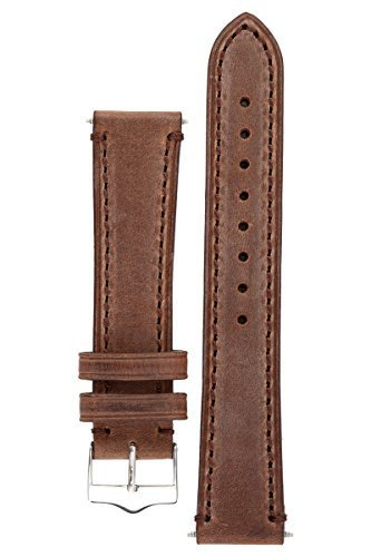 signature-father-coffee-18-mm-watch-band-replacement-watch-strap-genuine-leather-silver-buckle
