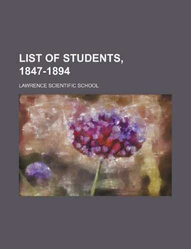 List of students, 1847-1894