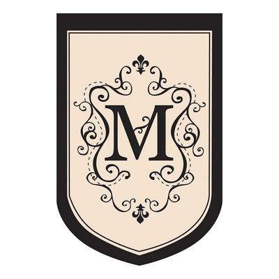 Monogram Estate Size Flag - M front-556860