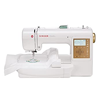 Singer S10 Studio 5.5 by 5.5-Inch and 2 by 2-Inch Embroidery Machine with 55 Built-In Designs, 3 Fonts, 2 Hoops and Bonus Software