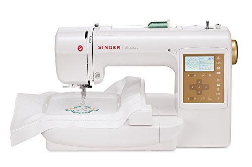 Cheapest Prices! Singer S10 Studio 5.5 by 5.5-Inch and 2 by 2-Inch Embroidery Machine with 55 Built-...