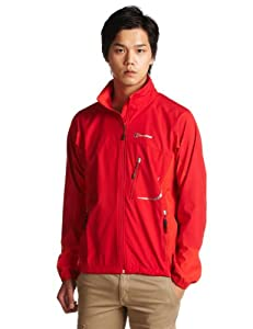 BERGHAUS Men's Sella Gore-Tex Windstopper Jacket tango red/red (Size: XL) windbreaker
