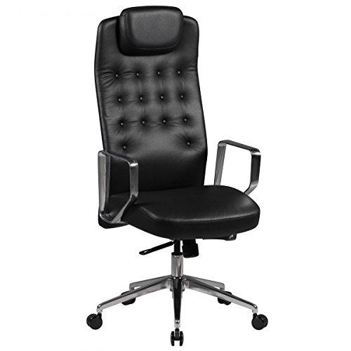 FineBuy-Brostuhl-EDEN-Echt-Leder-Schwarz-Schreibtischstuhl-120-kg-X-XL-Chesterfield-Design-verstellbar-Chefsessel-ergonomisch-mit-Kopfsttze-Drehstuhl-hoch-Synchronmechanik-Armlehnen-Hartbodenrollen