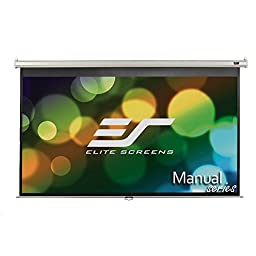 Elite Screens Manual, 84-inch 16:9, Pull Down Projection Manual Projector Screen with 30-inch Drop, M84XWH-E30