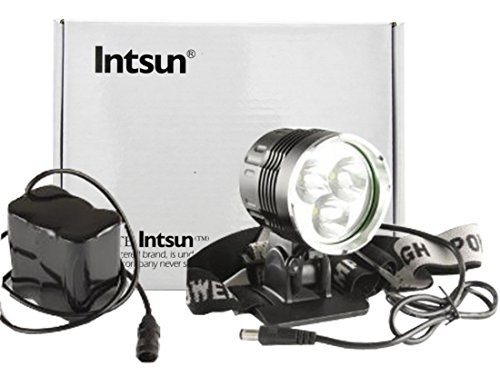 Intsun® 3X Cree Xm-L T6 Led 5000Lm Led Bicycle Bike Light Headlamp With 6600Mah Battery