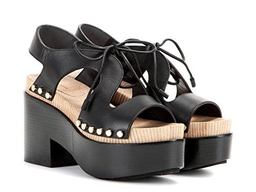 Sandali con plateau Balenciaga in pelle nero - Codice modello: 410951 W0WM0 - Taglia: 36 IT