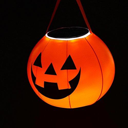 グリーンハウス かぼちゃ形防水 LEDソーラーランタン GH-LED10SLHW
