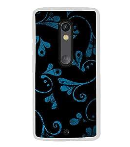Beautiful Blue Black Pattern 2D Hard Polycarbonate Designer Back Case Cover for Motorola Moto X Style :: Moto X Pure Edition