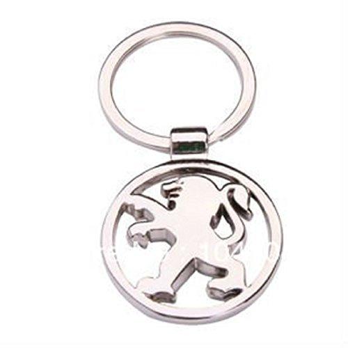 new-dreams-porte-cles-en-metal-chrome-avec-logo-de-peugeot
