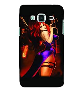 PrintVisa Hot & Sexy Girl 3D Hard Polycarbonate Designer Back Case Cover for SAMSUNG GALAXY J3 2016 Edition