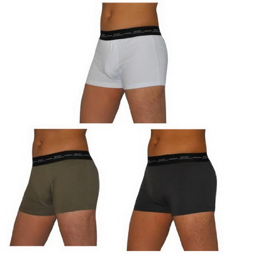 3 PACK: BASIC Mens Soft Boxer Shorts / Briefs Underwear