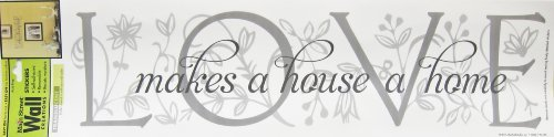 2-Pack Main Street Translucent Wall Sticker - LOVE makes a house a home