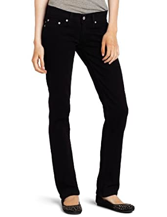 Levi's Juniors 524 Straight Leg Jean, Black Ink,24/0 Medium
