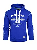 THE INDIAN FACE Sudadera con Capucha (Azul Royal)