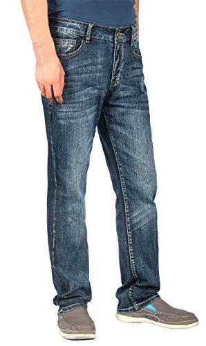 iLoveSIA-Pantaloni Denim Jeans gamba dritta Mid-Rise Sneaker Light Blue 38W x 32L