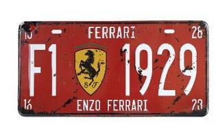 ferrari-f1-1929-vintage-auto-license-plate-embossed-tag-size-6-x-12