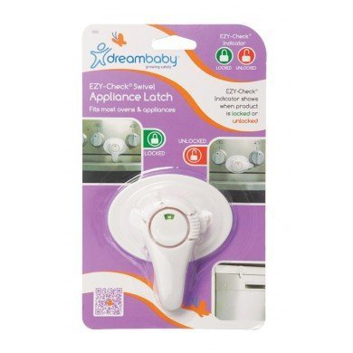 Dreambaby Swivel Oven Lock with EZ-Check Indicator, White 2 Pack