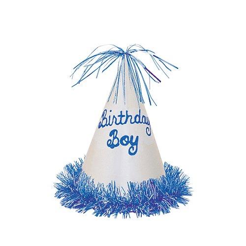 Glitter Birthday Boy Party Hat with Fringe