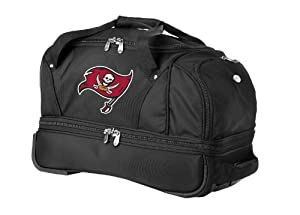NFL 27-Inch Drop Bottom Rolling Duffel Luggage by Denco