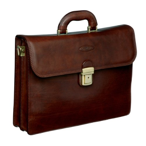 Luxury Brown Mans Leather Briefcase (Paolo2)