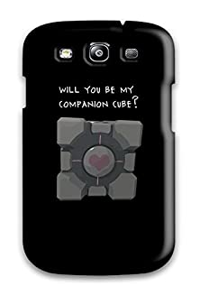buy Pretty Ymlzlhp4149Fijgx Galaxy S3 Case Cover/ Companion Cube Will You Be My Black Grey Love Hearts Romantic Vday Red February Lovers Valentines Holiday Valentines Day Series High Quality Case