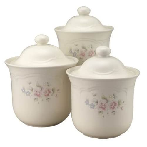 Pfaltzgraff Tea Rose 3-Piece Canister Set