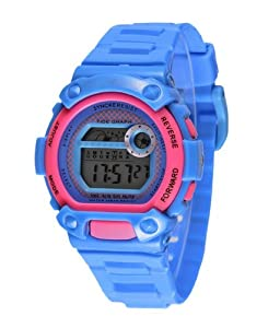 Felix Teenage's Sport Digital Watch Blue Dial Fashion Color Strap Swimming Watch SNK67275B