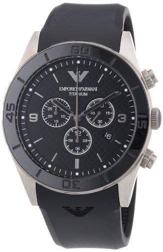 Emporio Armani Herren-Armbanduhr XL Chronograph Quarz Kautschuk AR9500